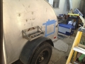 The battery box will go here, at drivers side rear of the trailer.