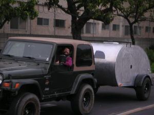 Sometimes I feel like I'm in a parade! Even if it's just one Jeep & a TearDrop Trailer!