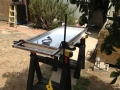 Solar Panel & rack clamped for hole drilling